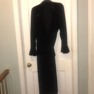 Ashley Stewart Black velour dress